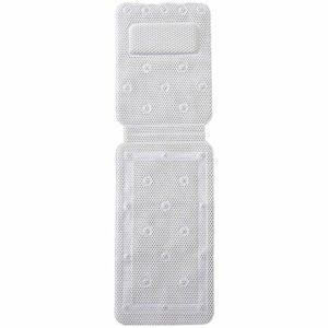 Tapis de Bain,Full Body Spa PVC éponge de Bain Coussin de Matelas avec Oreiller de Bain,Coussin de Baignoire 3D Air Mesh de Spa,avec Ventouses Antidérapantes (125 * 36CM)