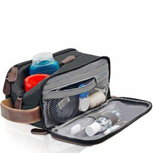 Trousse de toilette de voyage – Dopp Kit pour homme – Trousse de toilette pour homme – Grand kit d'accessoires de salle de bain portable – Trousse de rasage hygiénique – Trousse de toilette pour homme