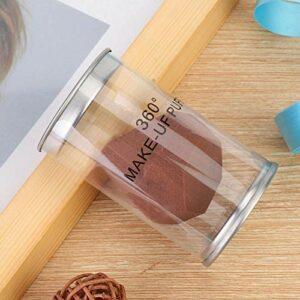 Uxsiya Houppette à poudre pratique pour le visage – Double usage – Réutilisable – Pour la beauté – Marron
