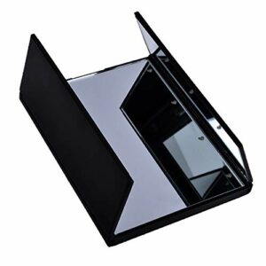 WUCHENG Vanity Miroir de Maquillage Lumineux Portable Miroir de Maquillage de Maquillage Compact miroirs de Poche Maquillage de la vanité cosmétique Main Miroir LED Miroir Miroir (Color : Black)